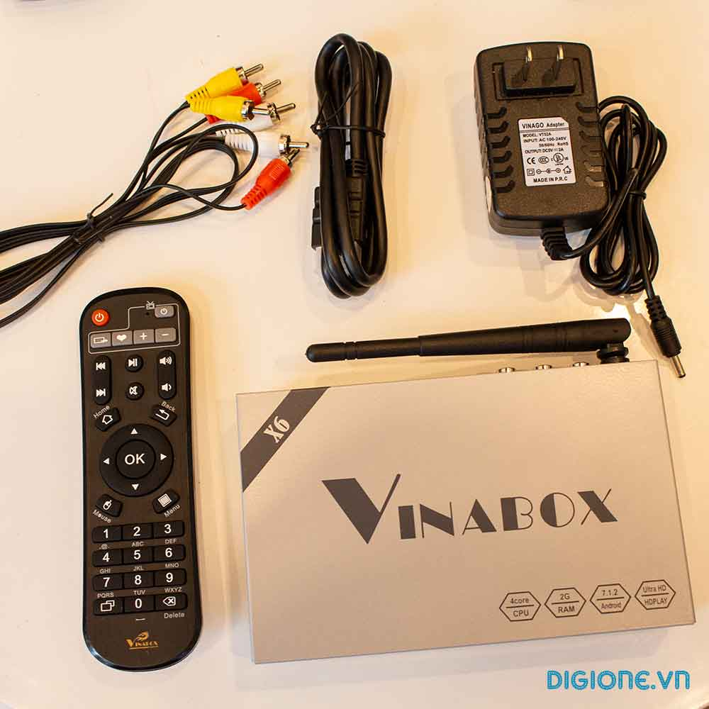 VINABOX X6 - Android TV Box ALLWINNER H3 2G/8G Android 7.1.2