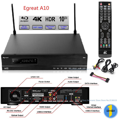 EGREAT A10 ANDROID TV BOX 4K 3D ATMOS DTS