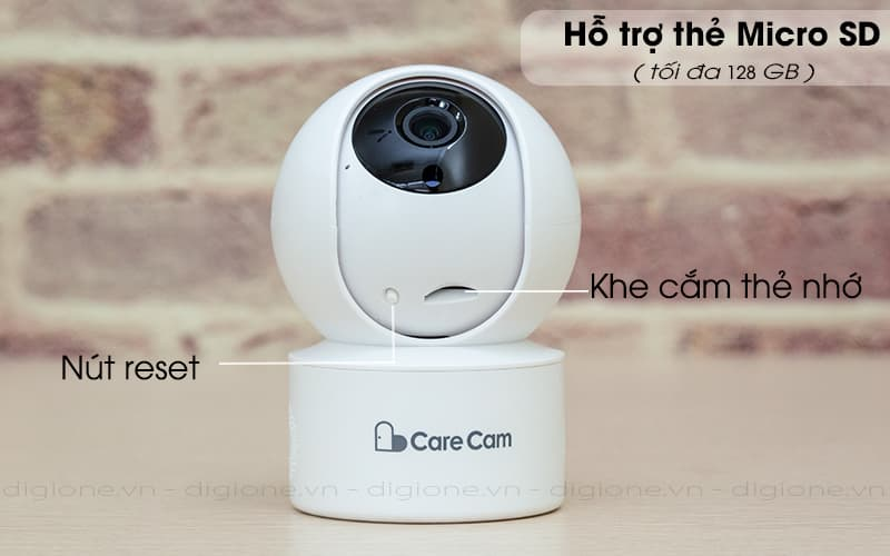 hỗ trợ lưu trữ thẻ nhớ - carecam yh200 1080p