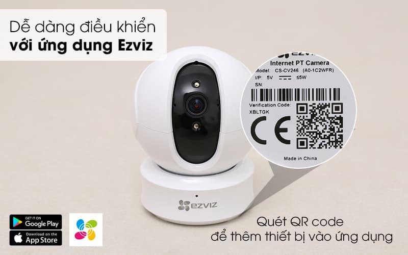 dễ dàng điều kiển - Camera IP Wifi Ezviz CS-CV246 1080P