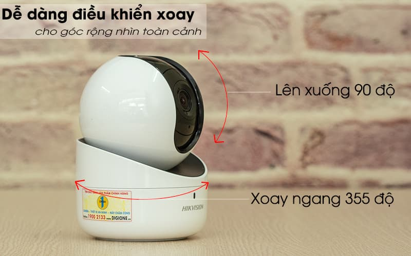 xoay 360 độ - Camera IP Wifi Hikvision DS-2CV2Q01FD-IW 720p
