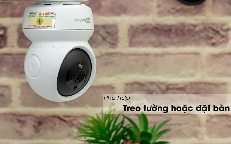 thiết kế treo tường - ezviz c6n 1080p