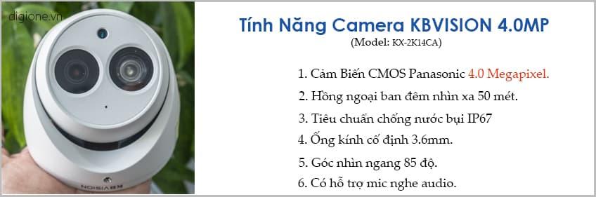 Lắp đặt trọn bộ 7 camera giám sát 4.0MP KBvision
