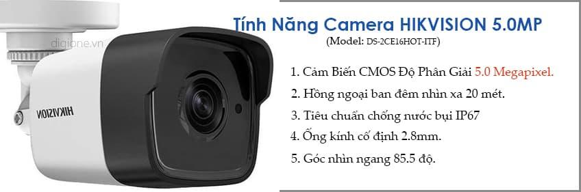 Lắp đặt trọn bộ 7 camera giám sát 5.0MP siêu nét Hikvision