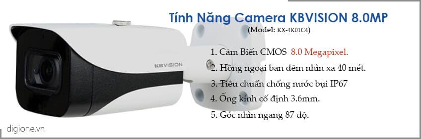 Lắp đặt trọn bộ 7 camera giám sát 8.0MP(4K) KBvision (Nghe được âm thanh)