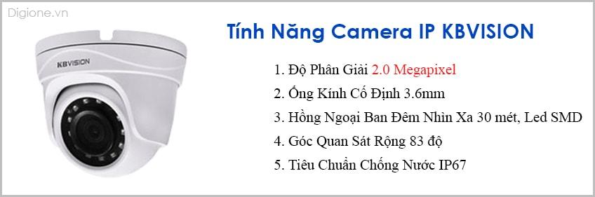 Lắp đặt trọn bộ 7 camera IP giám sát 2.0MP KBvision